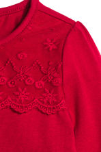 Long-sleeved body with lace - Red - Kids | H&M CN 2